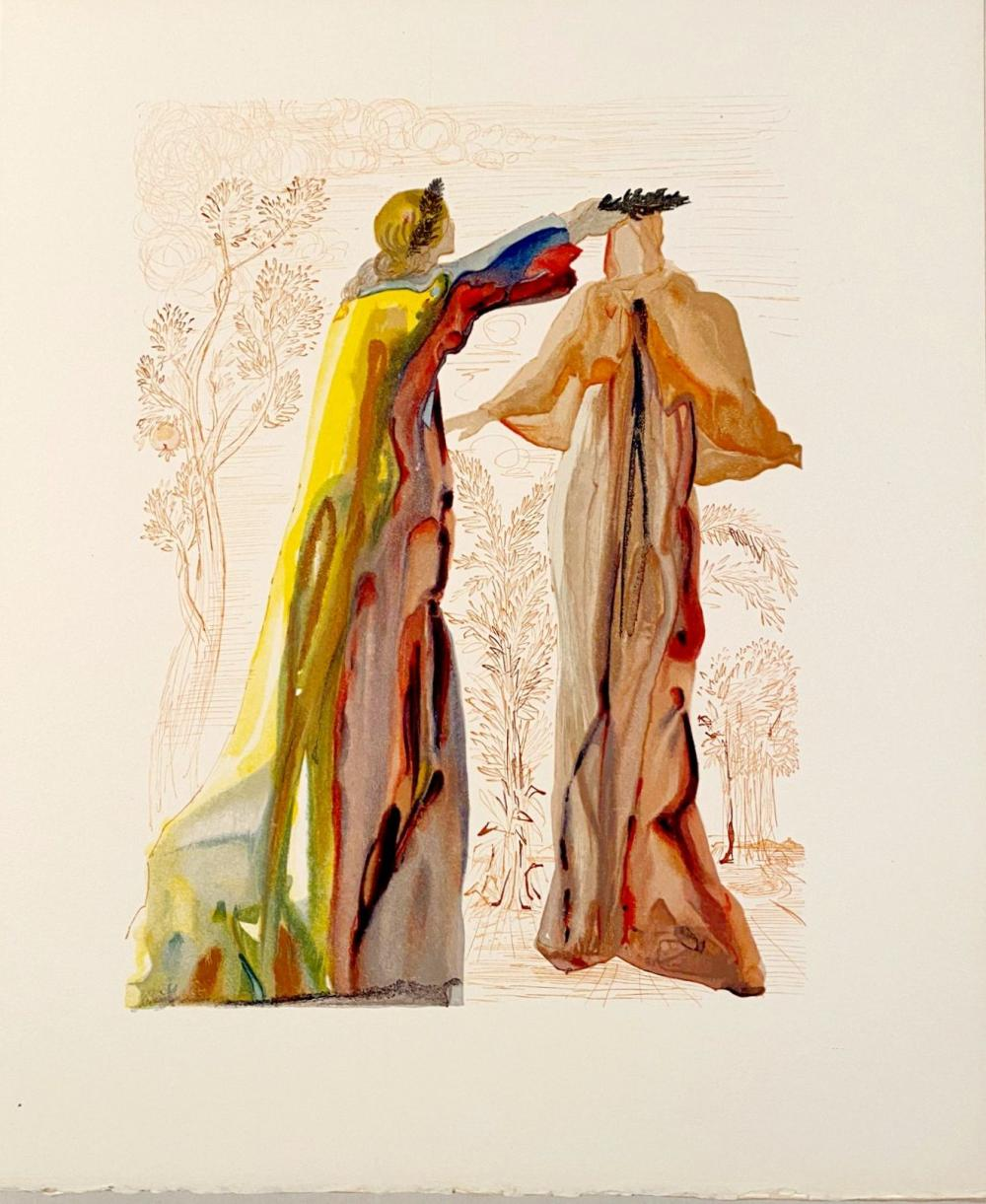 Salvador Dali - La Divine Comédie - Purgatoire 27 - Les dernières paroles, 1963