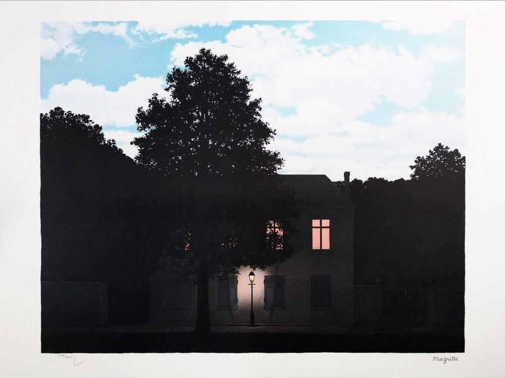 René Magritte - L'Empire des Lumières GM (The Empire of Light)