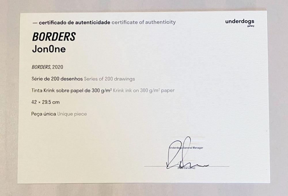 JonOne - Borders, 2020