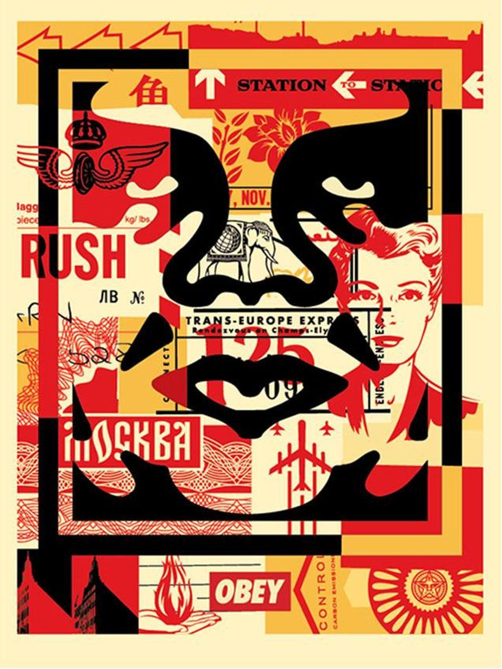 Shepard Fairey (OBEY) - Obey 3 Face Collage