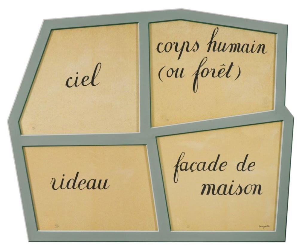 René Magritte - Le Masque Vide