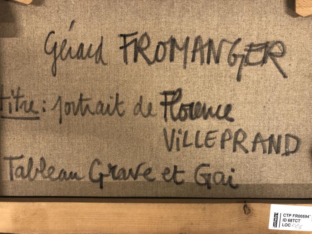 Gérard Fromanger - Portrait de Florence Villeprand, 1975