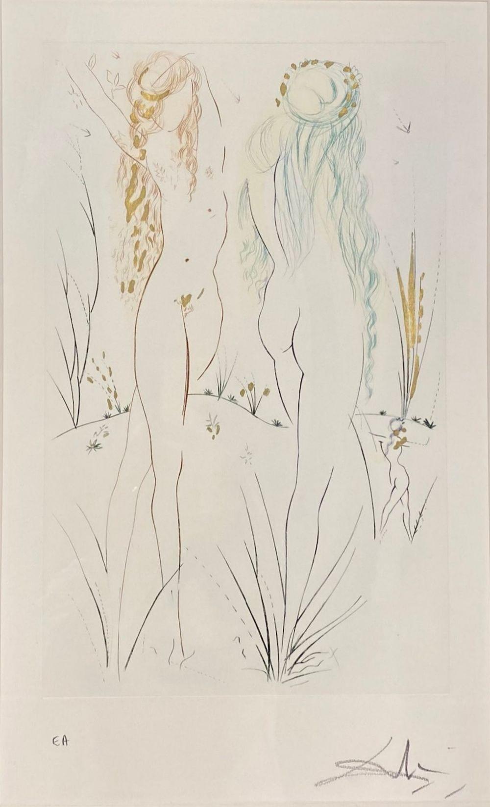 Salvador Dalí - Two Nudes, 1972