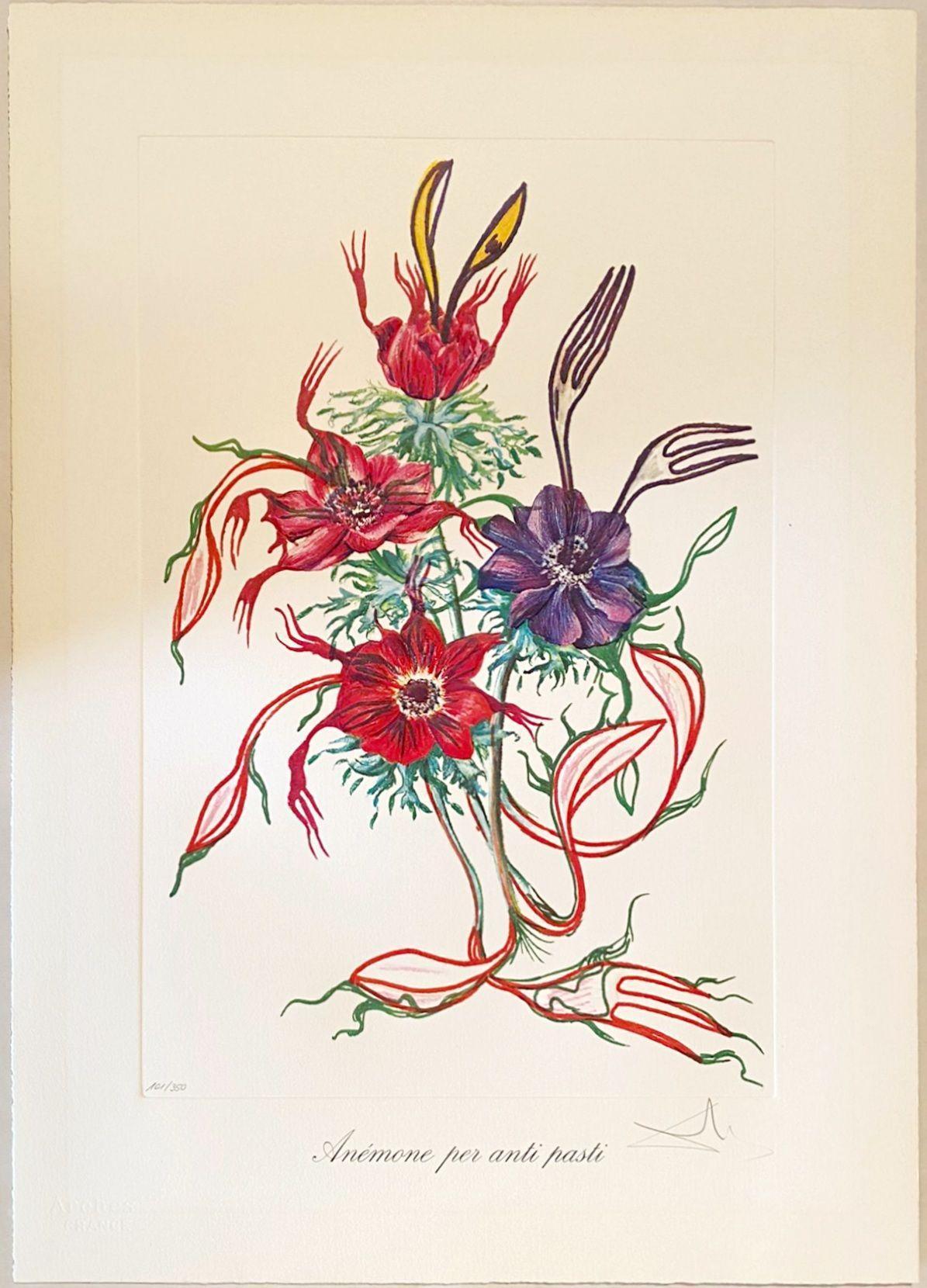 Salvador Dalí - Anemone per anti-pasti, 1972