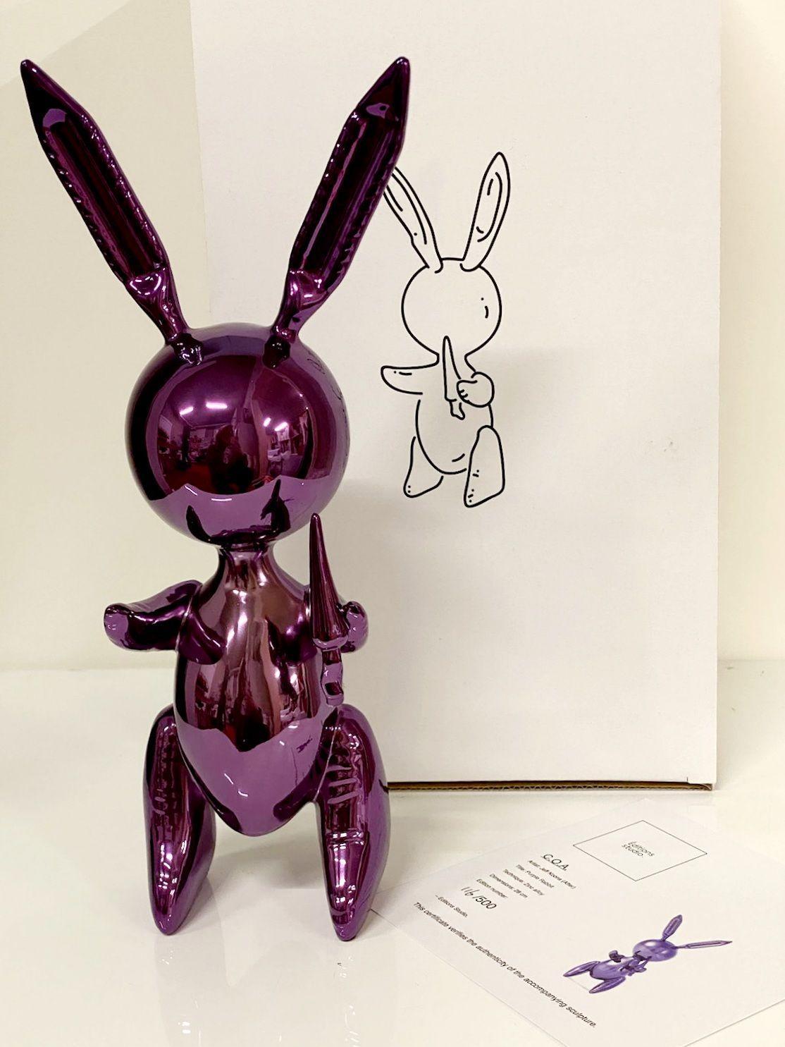 Balloon Rabbit Purple
