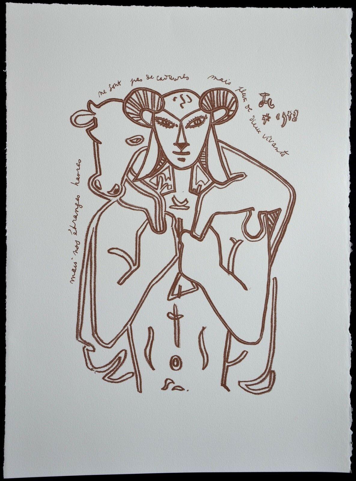 Jean Cocteau - Divinités cachées (Paul Valéry), 1958