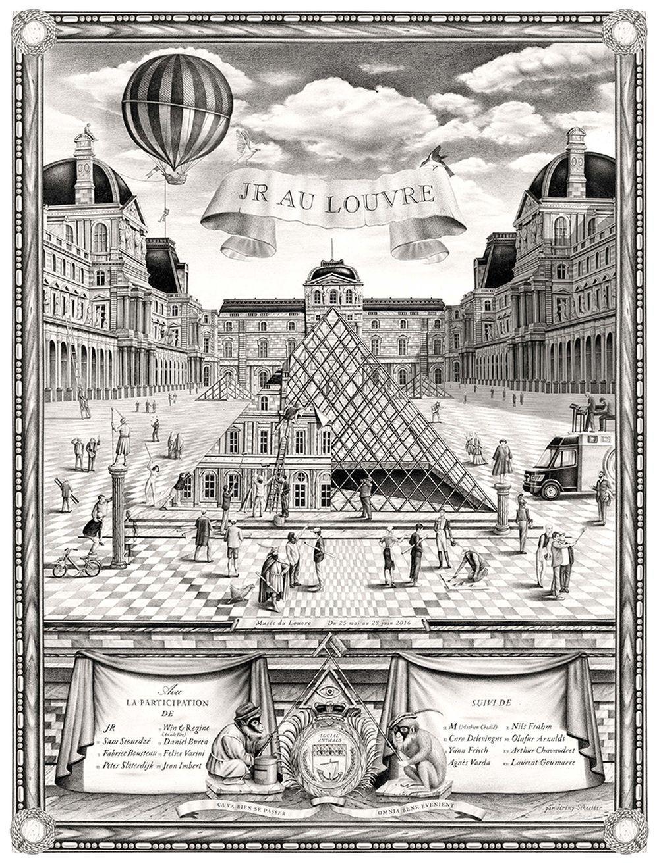 JR - Le Louvre, 2019