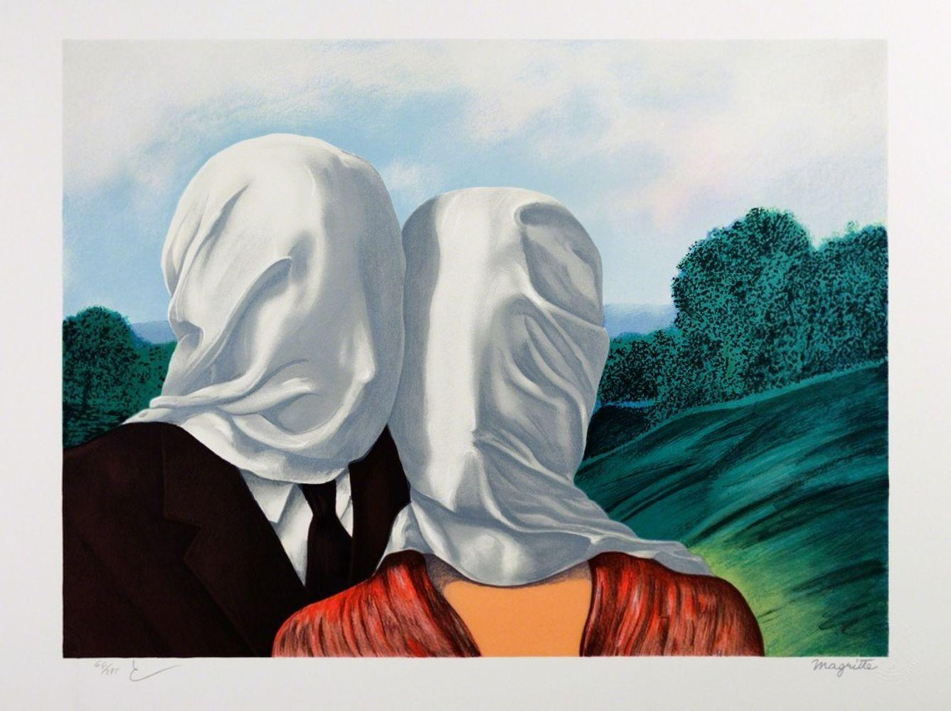 René Magritte - Les Amants MM (The Lovers)
