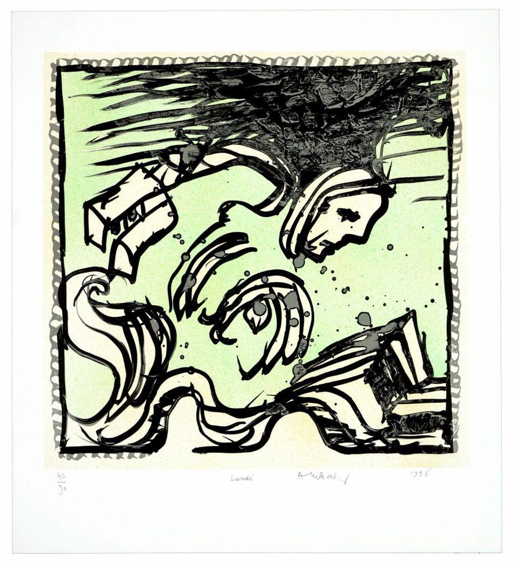 Pierre Alechinsky - Une bonne semaine/Lundi (A Good Week/Monday), 1998