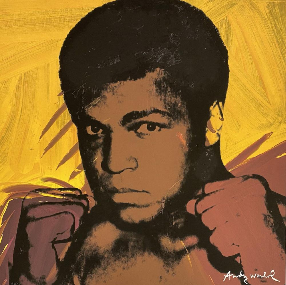 Andy Warhol (after) - Muhammad Ali (Yellow/Brown)