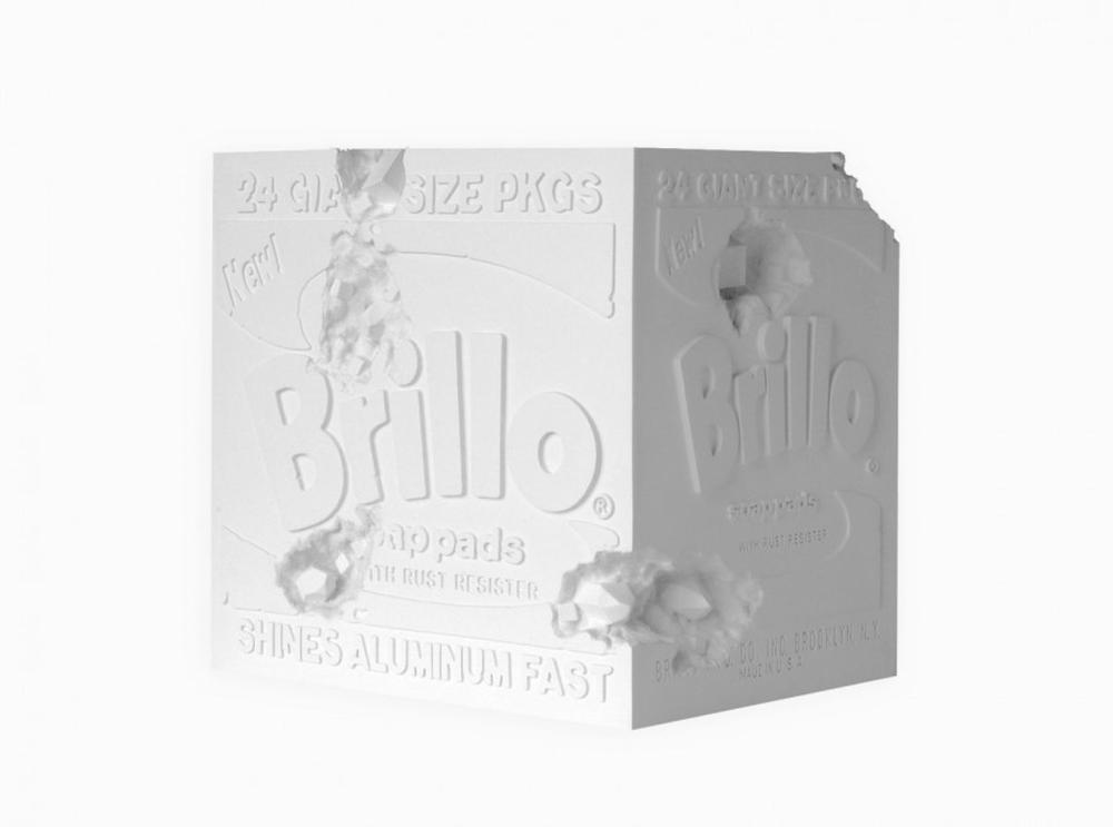 Daniel Arsham - Eroded Brillo Box (white), 2020