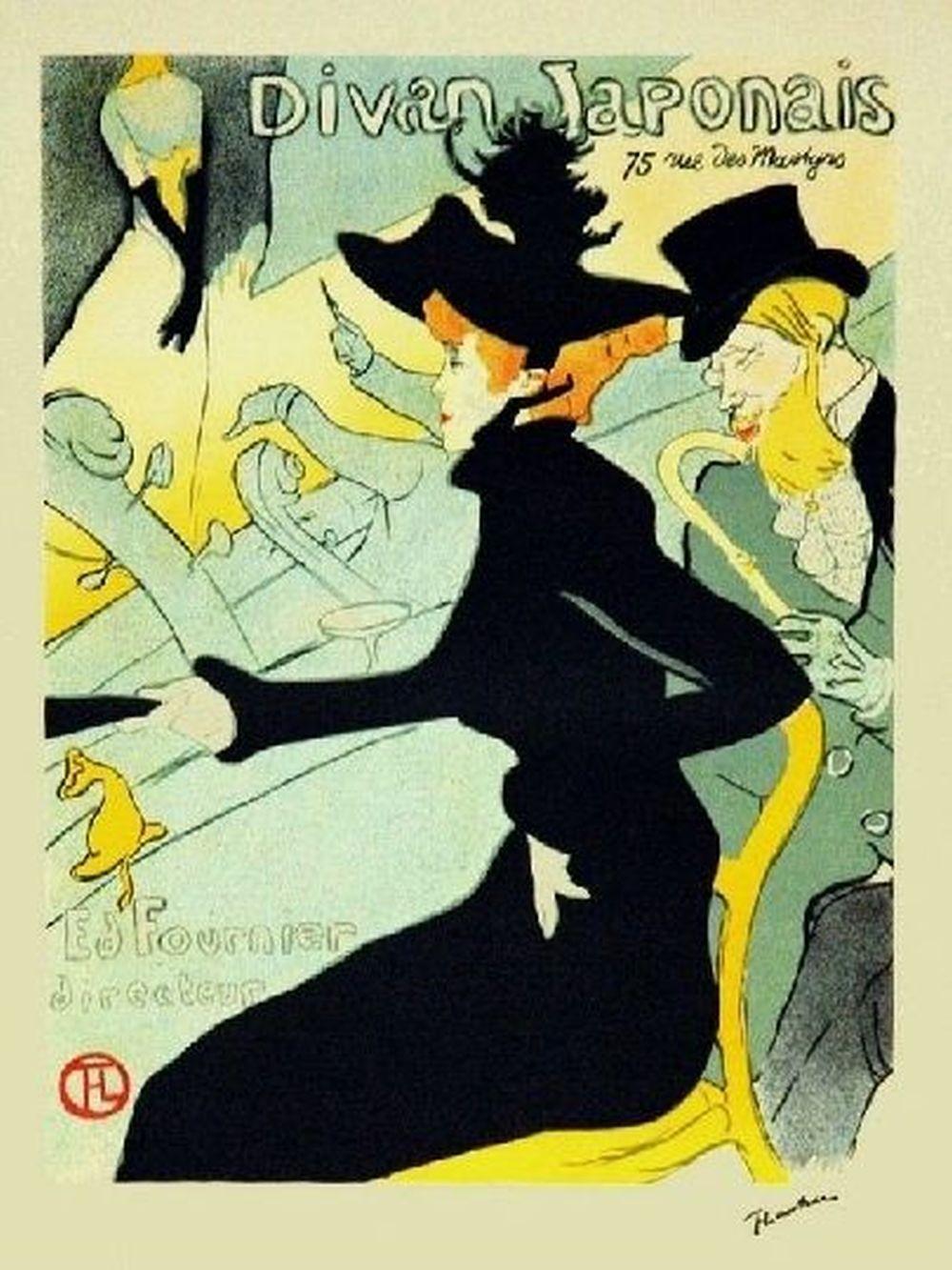 Henri De Toulouse-Lautrec (d'après) - Le divan japonais, 1982