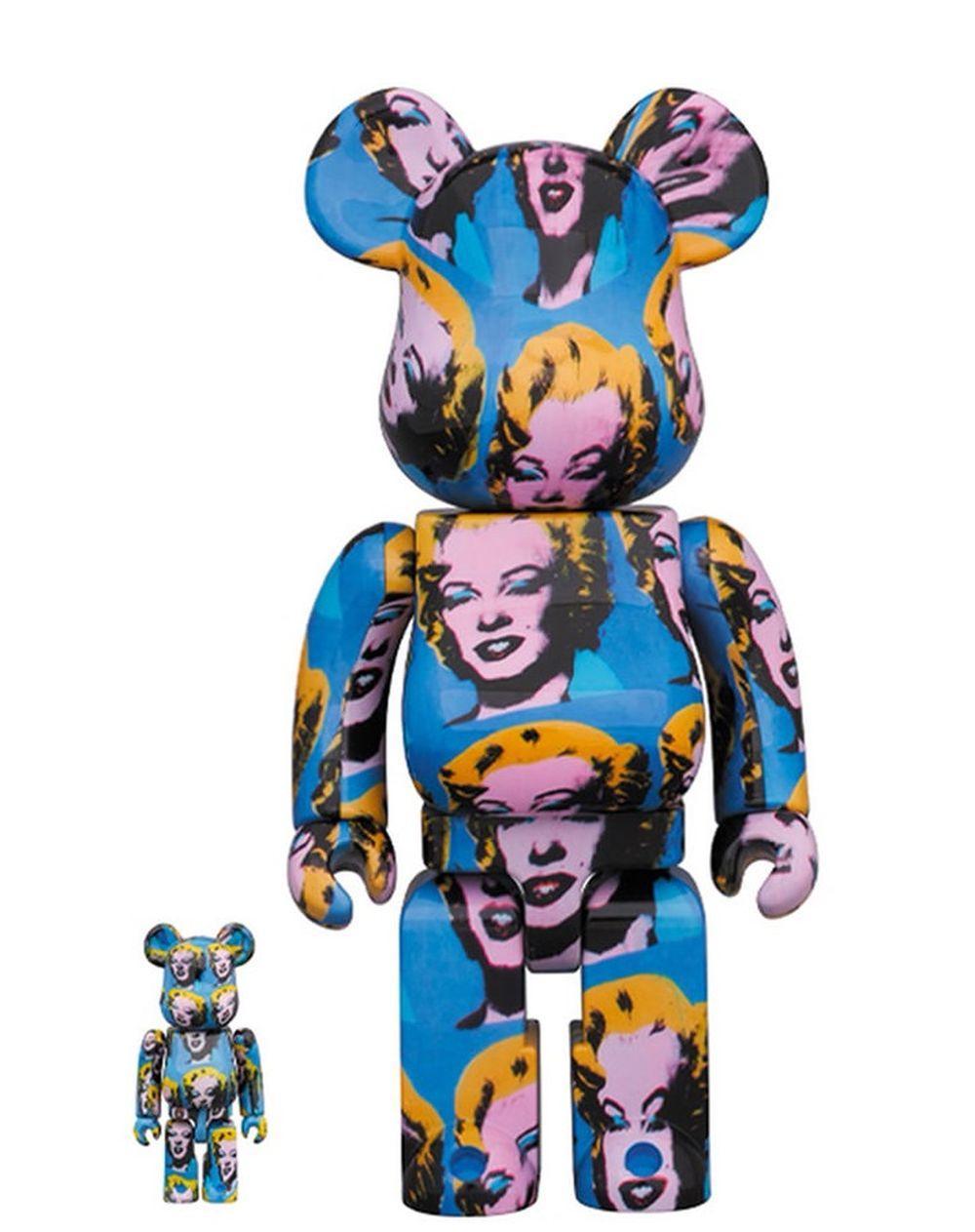 BE@RBRICK - Bearbrick Andy Warhol's Marilyn Monroe 400% + 100%