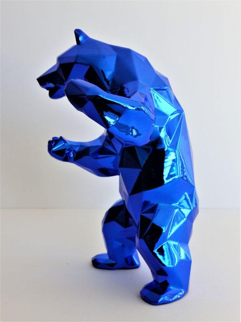 Richard Orlinski - Bear Spirit (Blue Edition), 2018