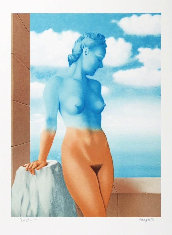 René Magritte - La Magie Noire MM (Black Magic)