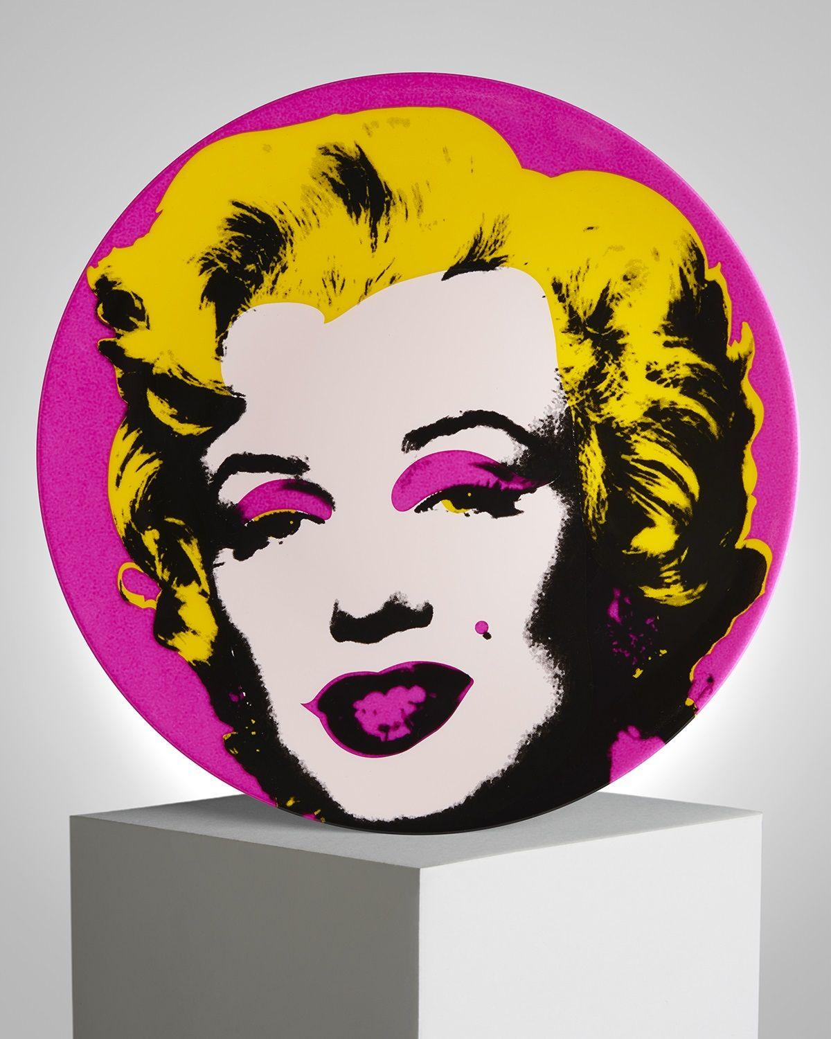 "Andy Warhol (after) - ""Marilyn Rose"", Porcelain Plate"