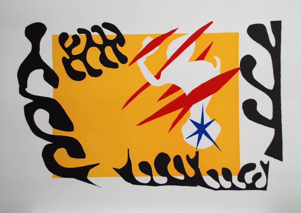 """Henri Matisse - Le Cauchemar de l'éléphant blanc (planche IV de """"Jazz""""), 1947"""