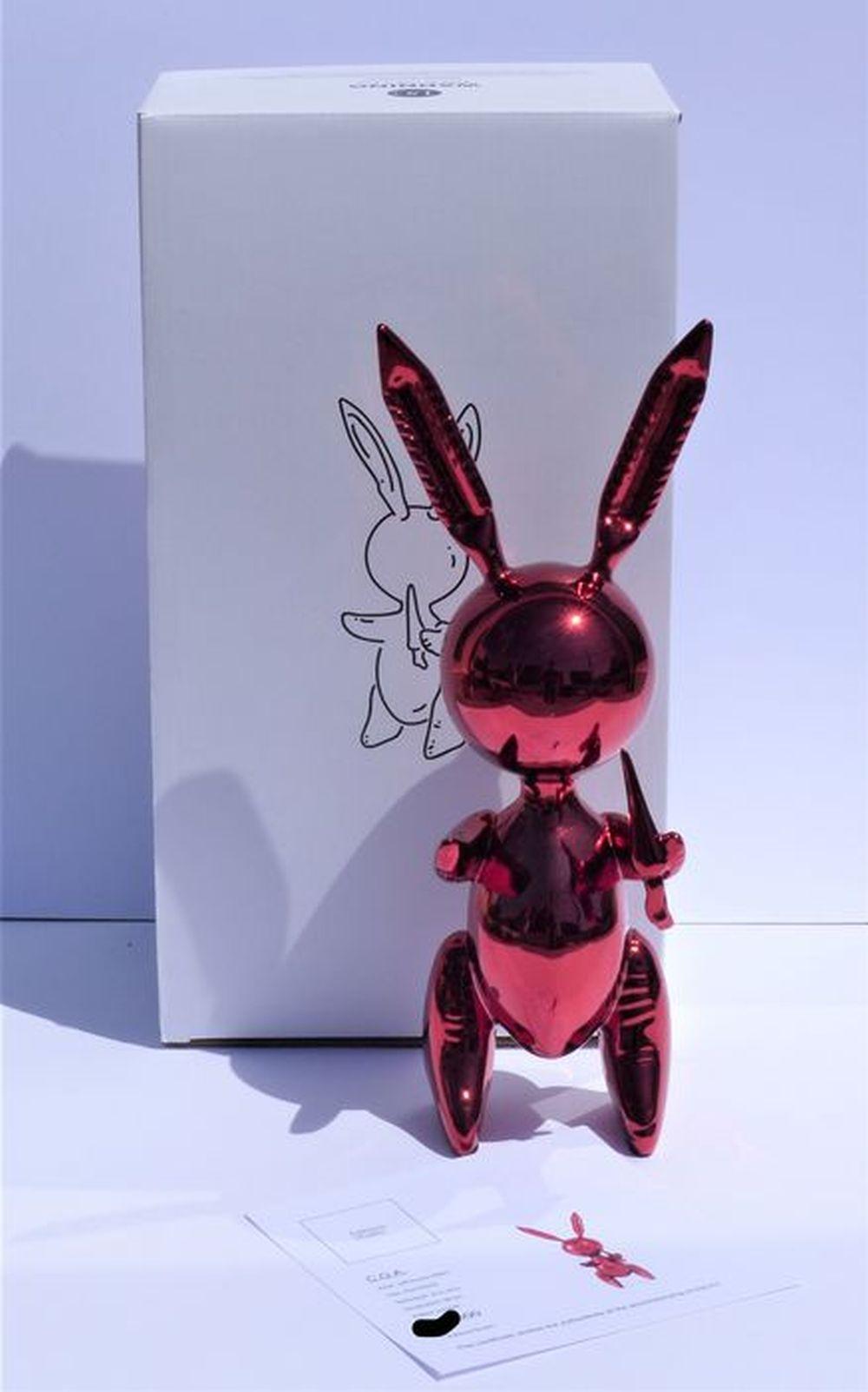 Jeff Koons (d'après) - Balloon Rabbit Red