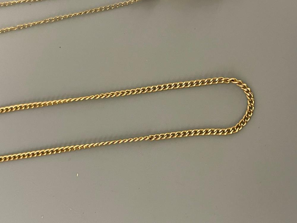 (3) 14k Gold Necklaces With Stones