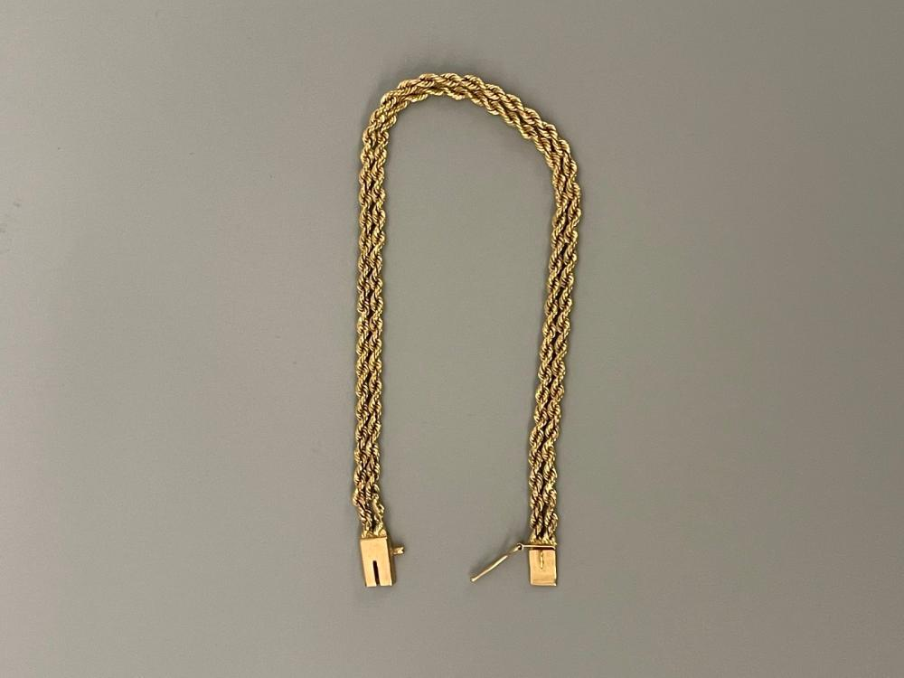 14k Yellow Gold Multi Rope Bracelet
