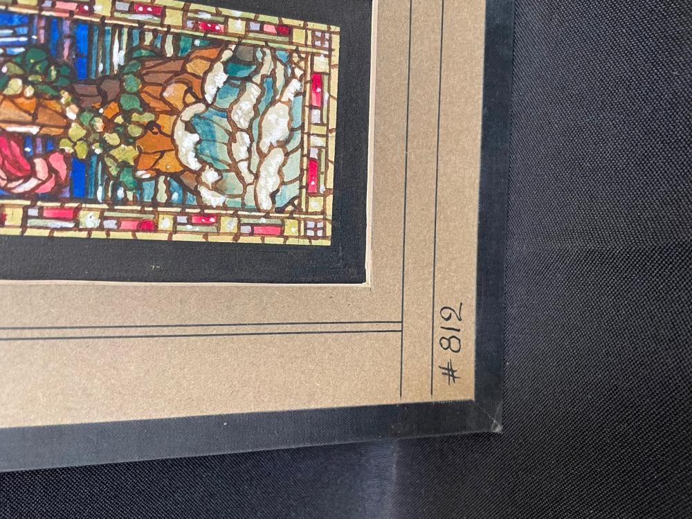 (3) Stained Glass Window Watercolor Studies Brookfield Studios