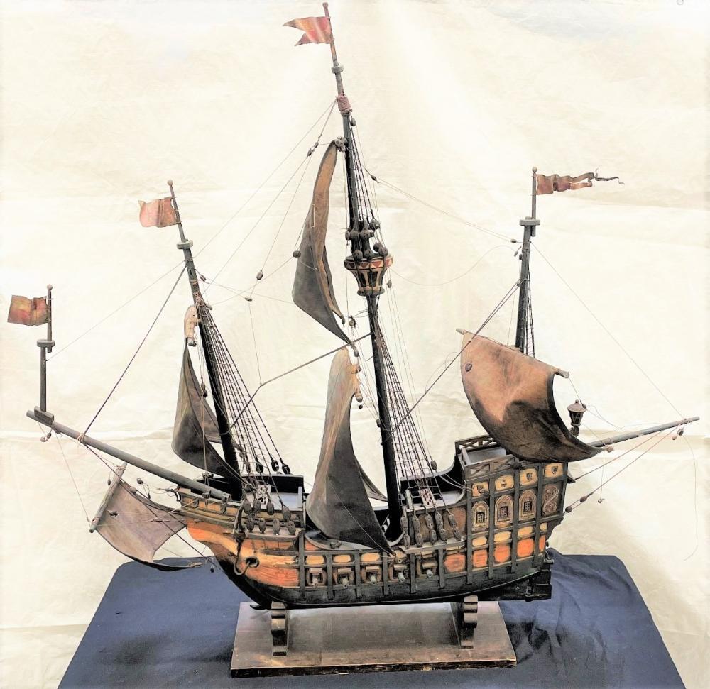 19th Century Spanish War Galleon Model Ship