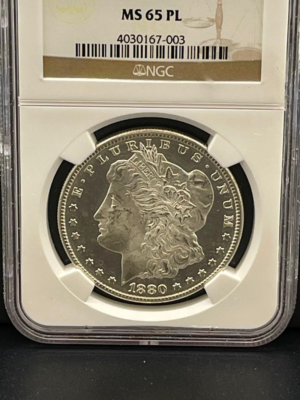 1880-S NGC MS65PL Morgan Silver Dollar