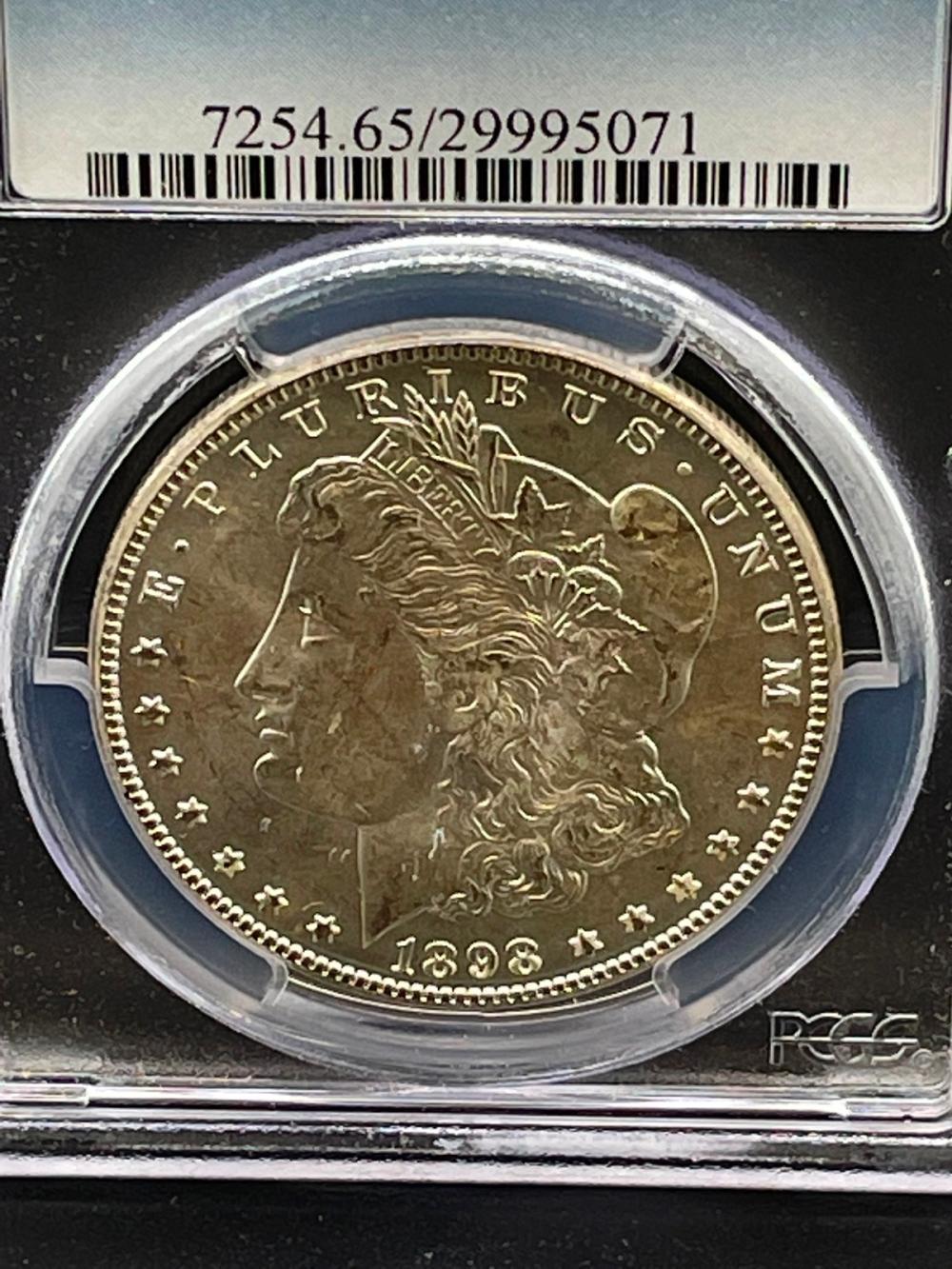 1898-O Morgan Silver Dollar Graded PCGS MS65