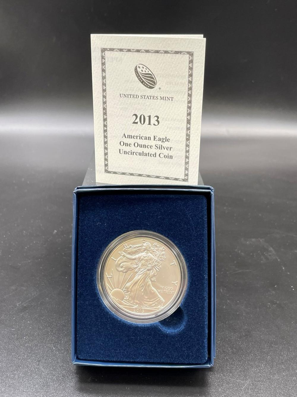 2013-W American Eagle One Ounce Silver Proof Coin In Presentation Box
