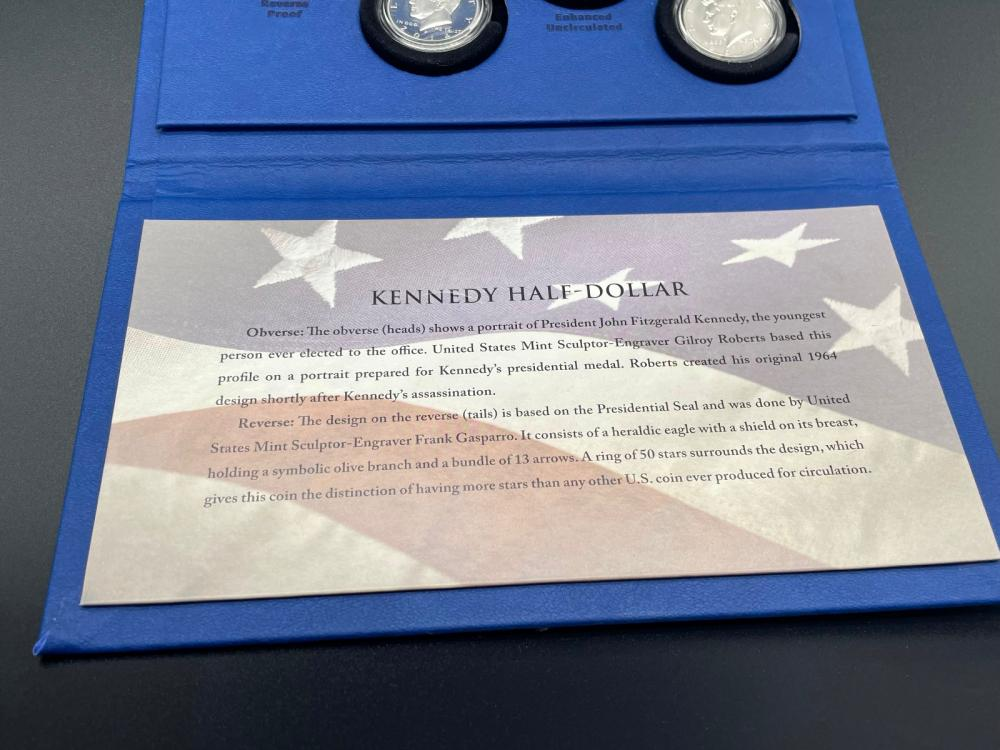 2014 Kennedy Half Dollar 50th Anniversary Silver Coin Collection Box Set