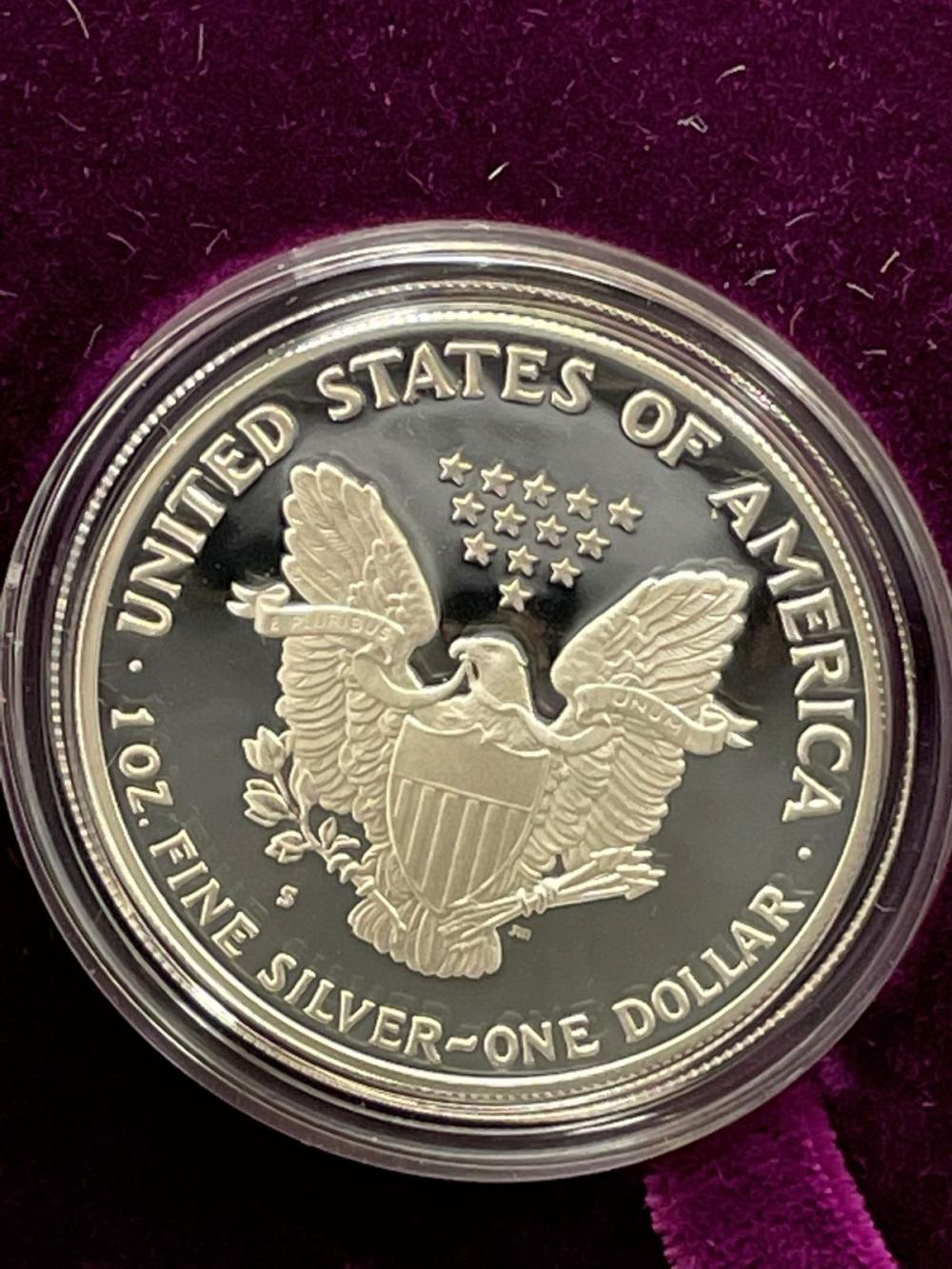 1992-S American Eagle One Ounce Silver Proof Coin In Presentation Box