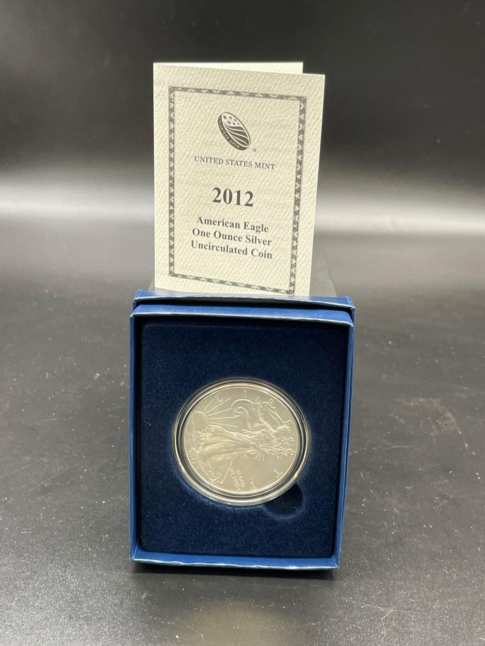 2012-W American Eagle One Ounce Silver Proof Coin In Presentation Box