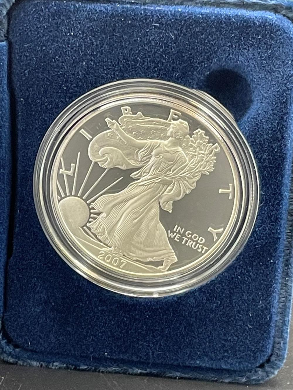 2007-W American Eagle One Ounce Silver Proof Coin In Presentation Box