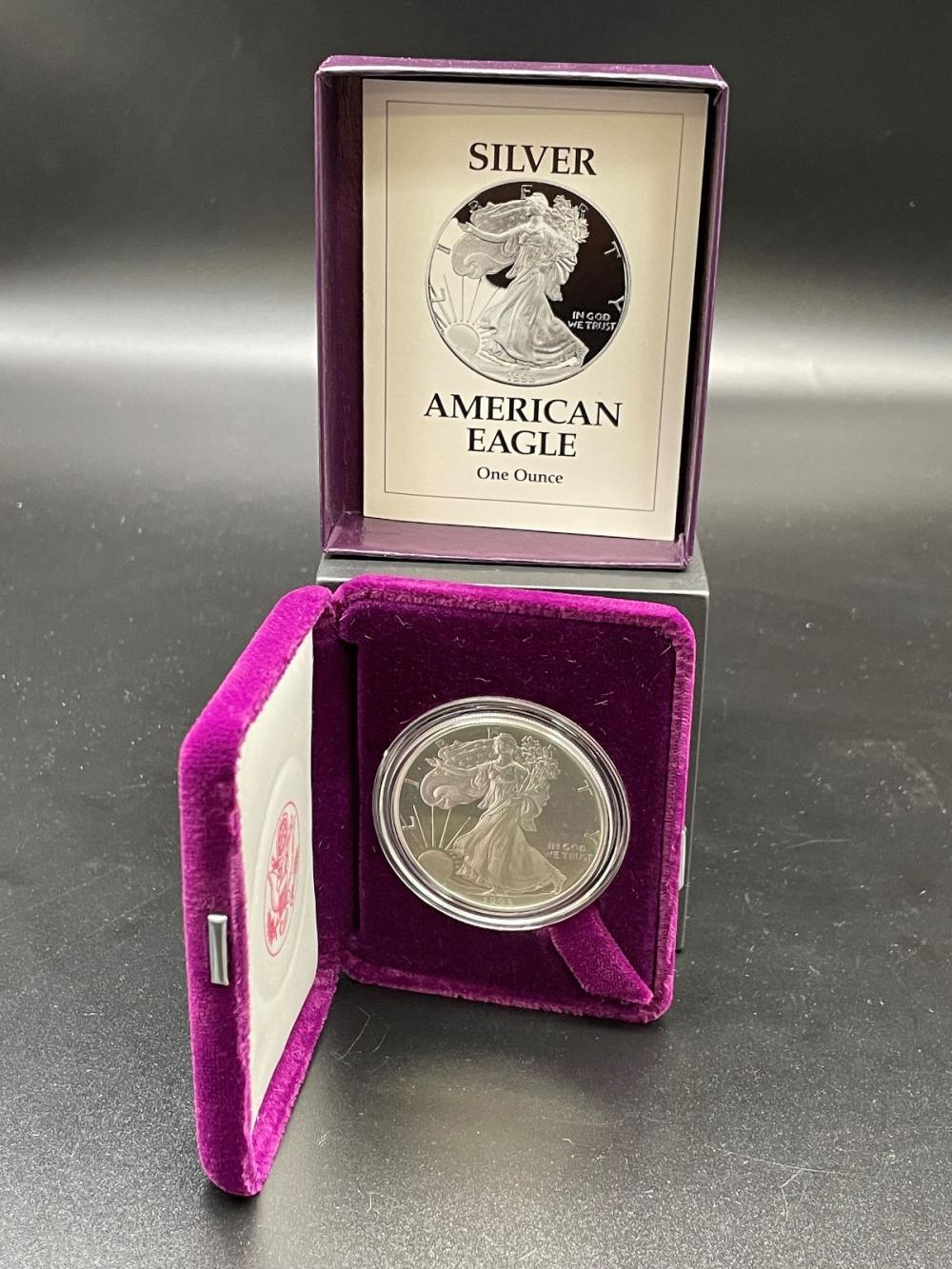 1993-P American Eagle One Ounce Silver Proof Coin In Presentation Box