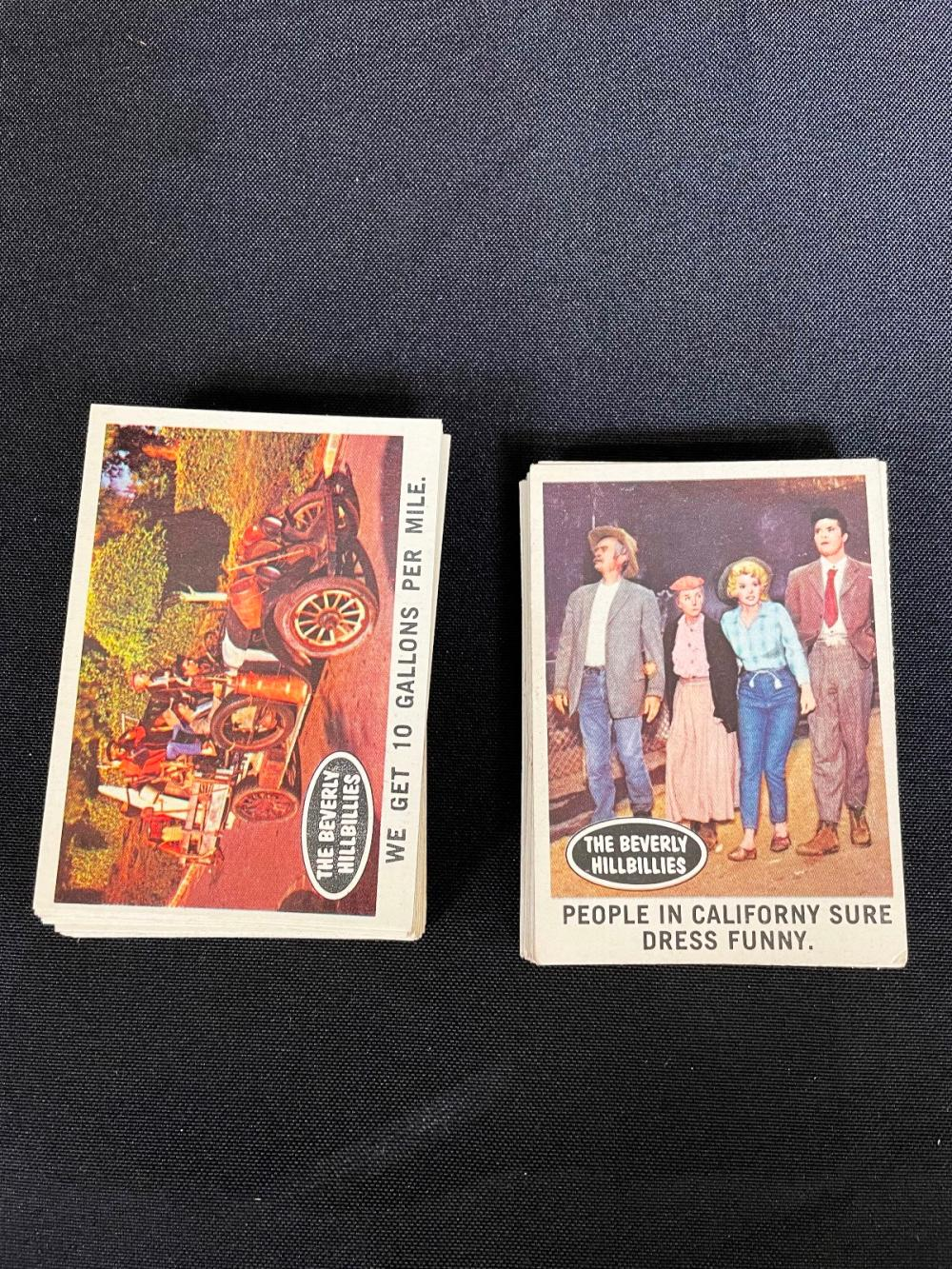 """1963 """"Beverly Hillbillies"""" Topps Non-Sport Trading Cards EX-NM Complete Set"""