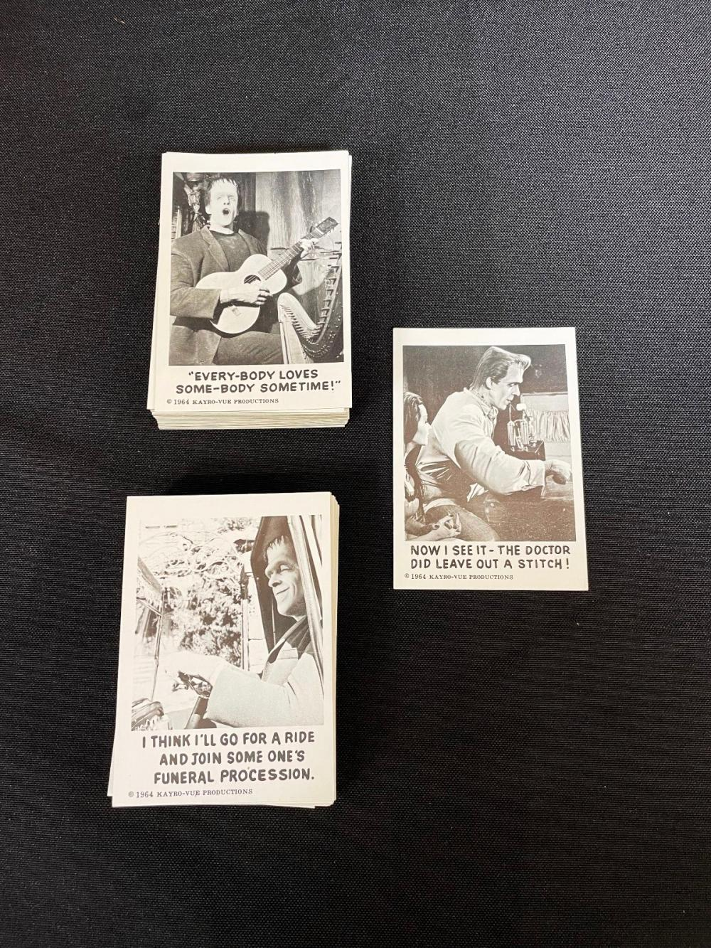 """1964 """"The Munster's"""" Leaf Non Sport Trading Cards NM-M Complete Set"""