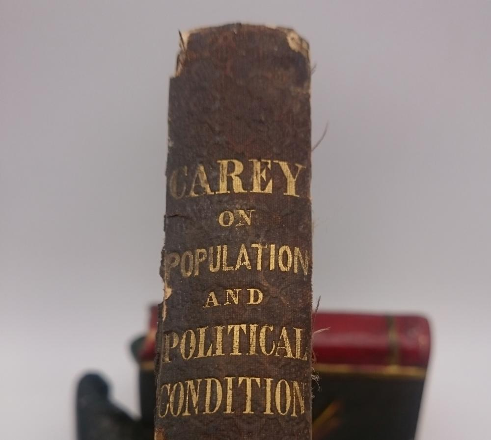 Principles of Political Economy Carey on Population and Political Condition 1840