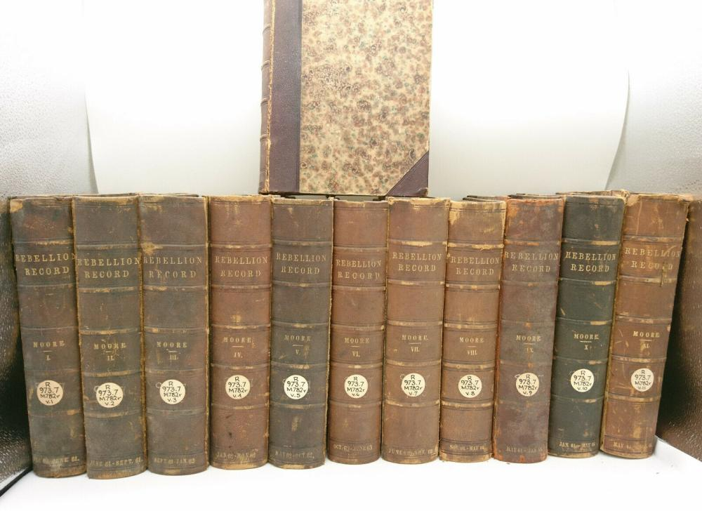 1861 The Rebellion Record A Diary of America Events 12 V Set Map Civil War Moore