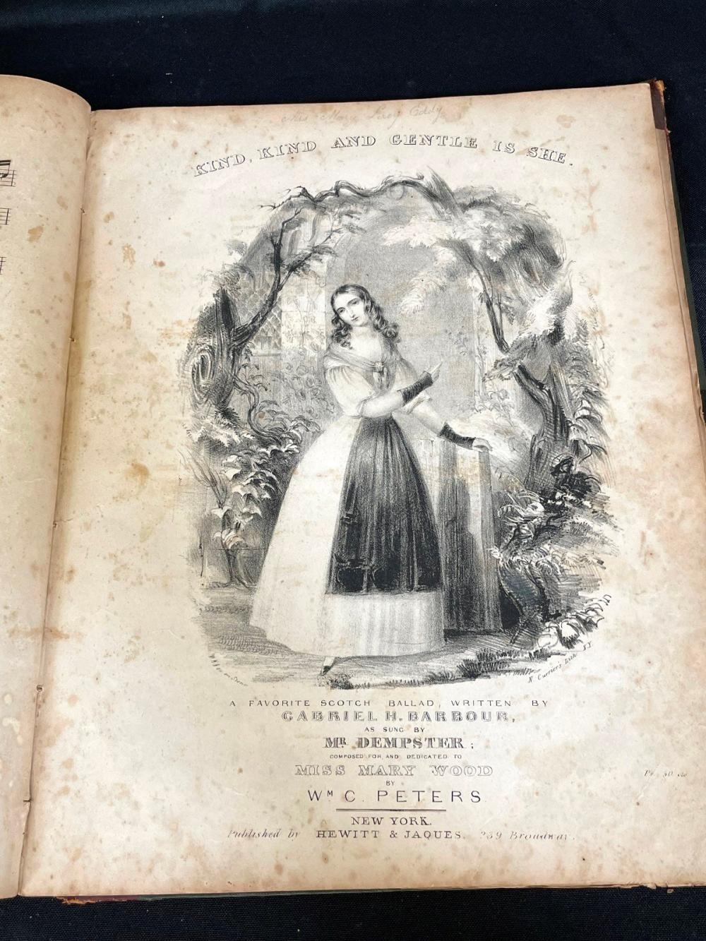 """1840 """"Rudiments of Music"""" With (2) Currier Engravings"""