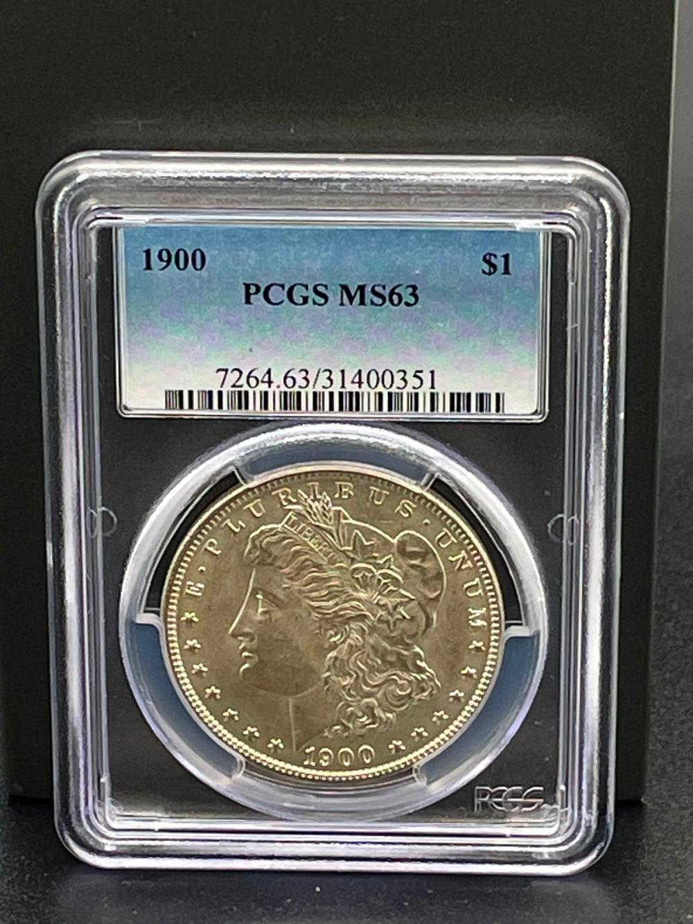 1900 Morgan Silver Dollar Graded PCGS MS63
