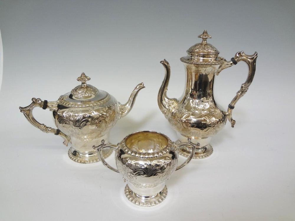 Elkington English Silver Plate Coffee and Tea Pot, Sugar