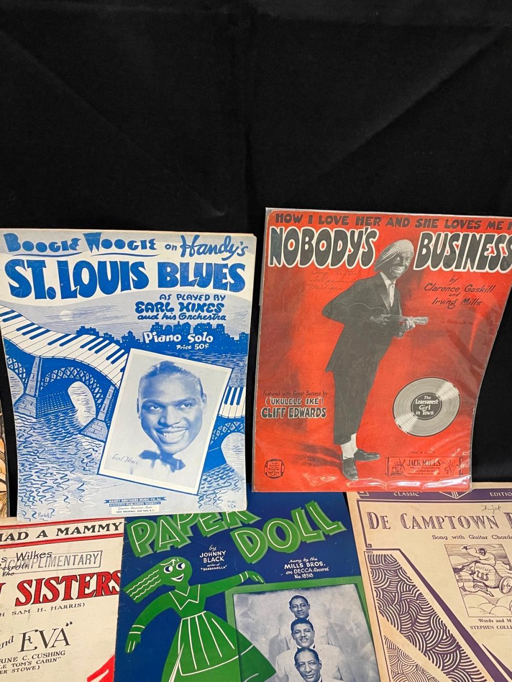 (12) Pieces of Black Americana Sheet Music