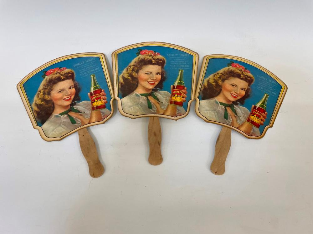 (3) Shirley Temple Advertising Fans