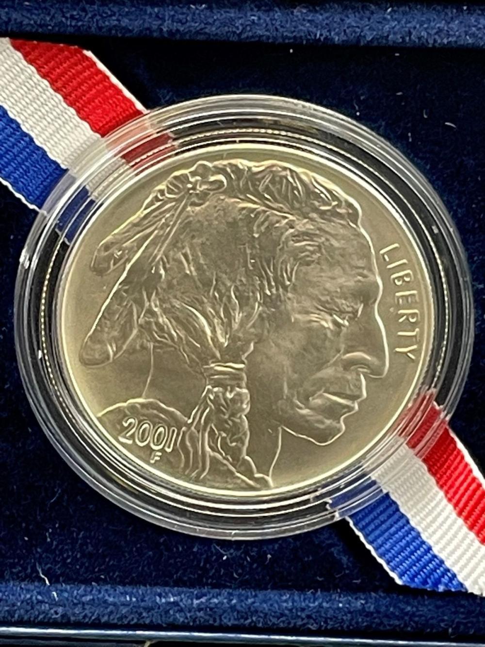 2001-D American Buffalo Commemorative Uncirculated Silver Dollar