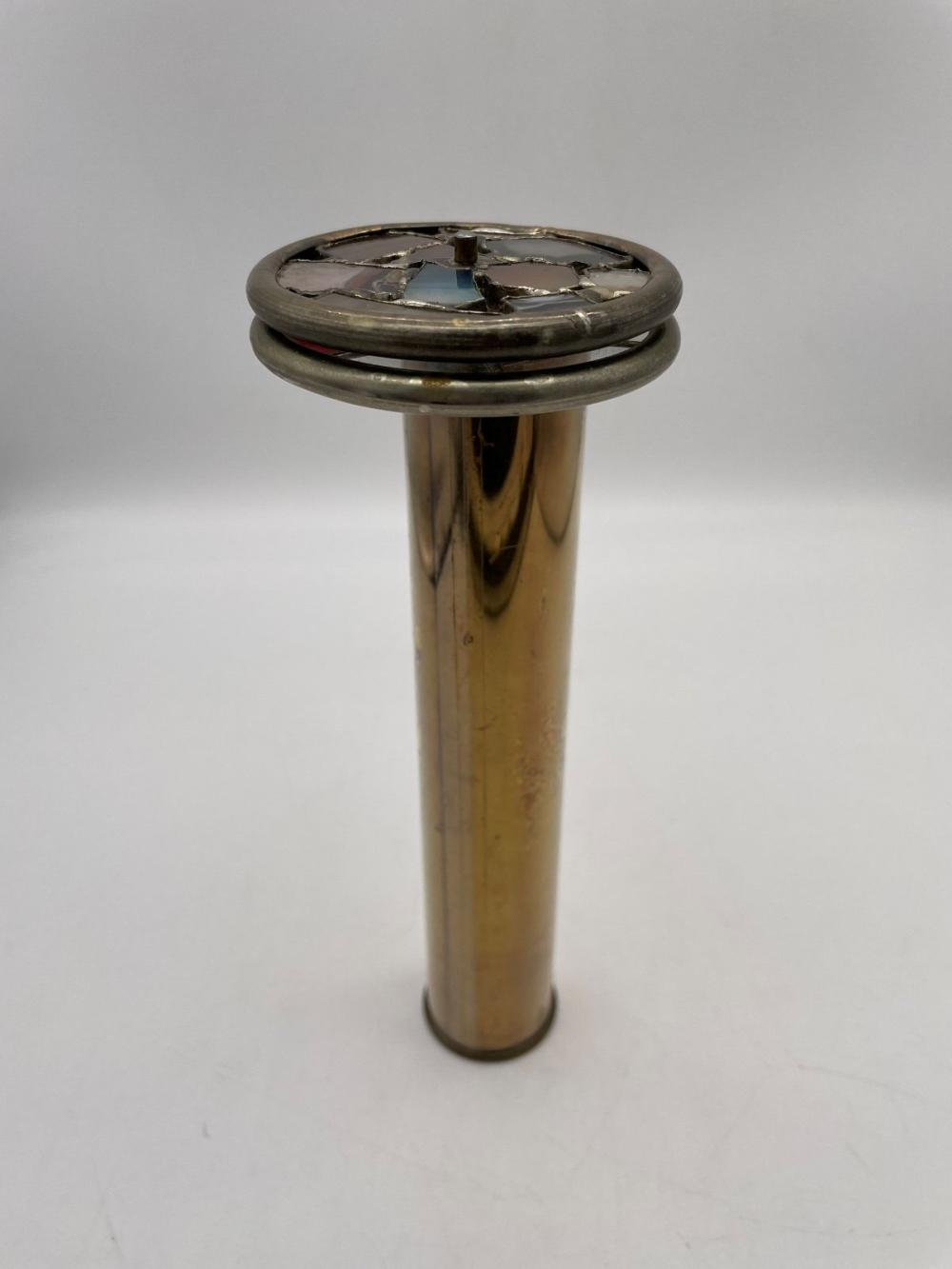 (3) Double Wheel Brass and Wood Kaleidoscopes