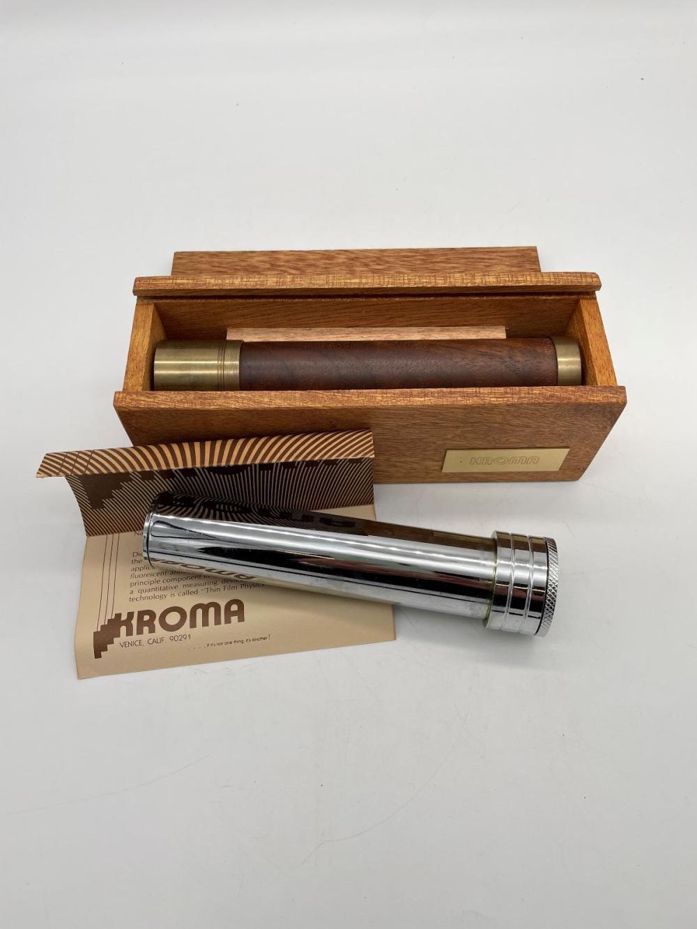 (2) Kroma Kaleidoscopes Chrome, Brass and Wood