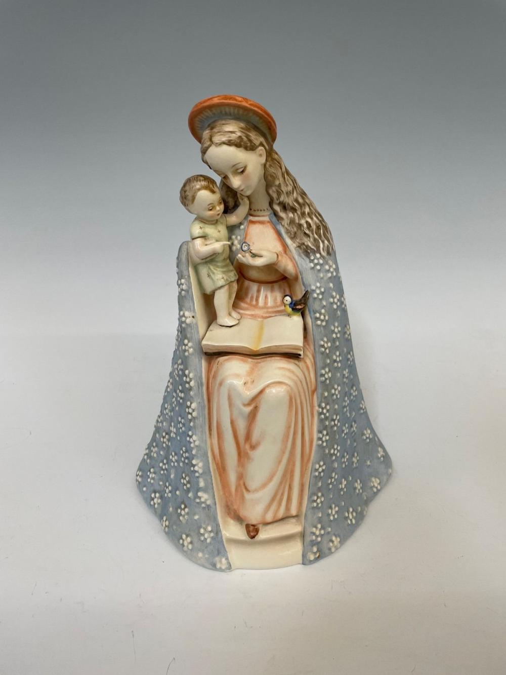 """1950's Hummel """"Flower Madonna"""" With Child Full Bee Mark"""