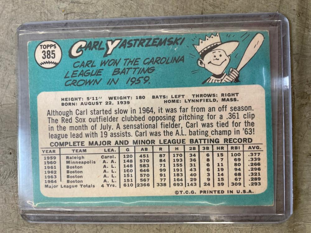 1965 Topps Baseball Card Partial Set With Star Cards 494/598