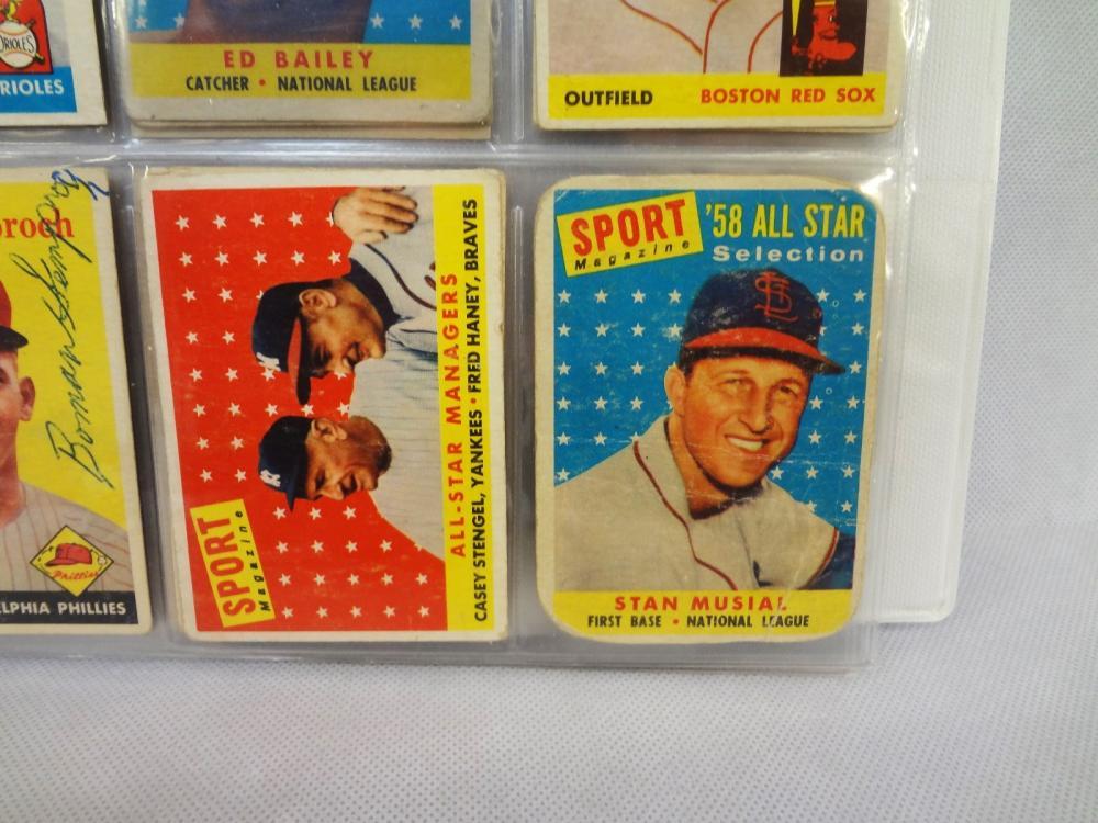 1958 Topps Baseball Card Partial Set Including Maris