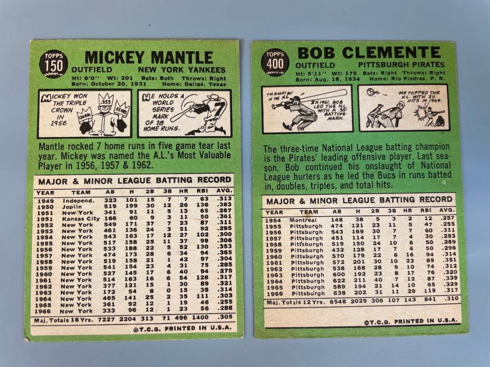 1967 Topps Baseball Cards Partial Set 448/609